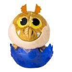 Így neveld a sárkányod plüss sárkány tojásban - Gronkel sötétkék tojásban