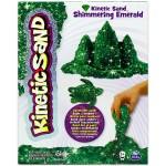 Kinetic Sand: Homokgyurma -csillámló smaragd színű, 454 gramm