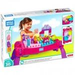 Mega Bloks: lányos építő játékasztal kockákkal