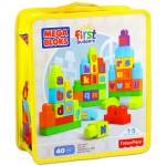 Mega Bloks: ABC építőkockák - 40 darabos