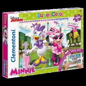 Clementoni 104 darabos puzzle - Minnie és Daisy Párizsban