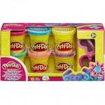 Play-Doh: 6 darabos csillogó gyurma készlet kiszúróval