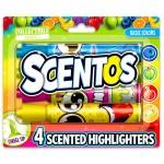 Scentos 4 darabos illatos szövegkiemelő - alapszínek