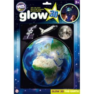 Brainstorm Glow 3D Föld foszforeszkáló matrica