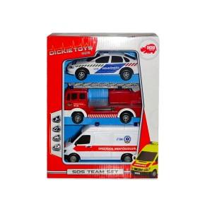 Dickie Toys: SOS jármű készlet - 3 darabos