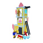 Sam a tűzoltó gyakorló torony figurával