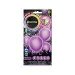 Világító LED-es lila lufi 4db-os csomag