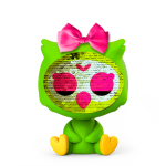 Flitter baba - Zequins zöld Bagoly