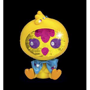 Flitter baba - Zequins sárga Kiskacsa