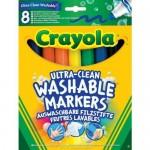Crayola 8 db extra lemosható vastag filctoll