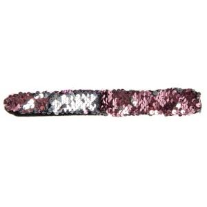 Flitteres pattintós karkötő - ezüst, rózsaszín