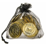 Kalóz pénzérmék hálóban
