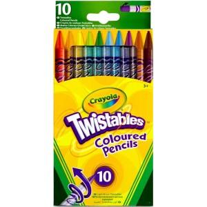 Crayola csavarozható színes ceruza, 10 darabos